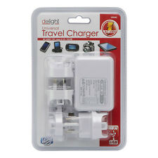 New 4 USB Multi Ports Adapter Travel Wall AC Charger with UK/EU/US/AU Plug White