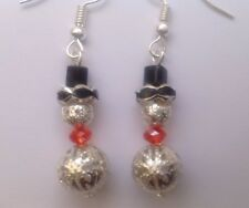 Christmas Snowmen Earrings Xmas Gift Unwanted Gift Present