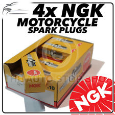 4x NGK Spark Plugs for SUZUKI 400cc GSX-R400H 86-  No.6821