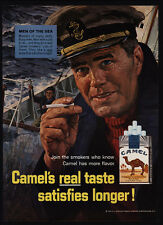 1966 CAMEL Cigarettes - Men Of The Sea - Captain - Sailor - VINTAGE AD