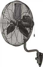 "Garrison 30"" 9,500 CFM 3 Speed Industrial Oscillating Wall Mount Pedastal Fan"