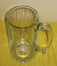 X-Large Beer Mug Clear Heavy Glass 28 oz NEW  #DH52