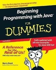 Beginning Programming with Java for Dummies by Barry Burd (2005, Paperback,...