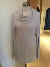 James Lakeland Sweater Size 18 BNWT Beige A-Line Roll Neck RRP £135 Now £47