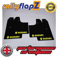 Schmutzfänger Suzuki Swift Schwarz 3mm PVC Gelb Logo Schlamm Klappen Gen 2 08-10