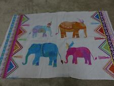 Decorative bright novelty elephant crafts remnant fabric material piece 70x45cm