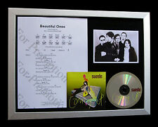 SUEDE Beautiful Ones LTD GALLERY QUALITY CD FRAMED DISPLAY+EXPRESS GLOBAL SHIP