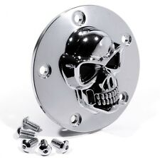 Tete de mort pour Harley sportster 99-pointcover 3d skull Allumage Couvercle Chrome