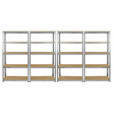 4 x Scaffalature di stoccaggio Scaffalature Garage Heavy Duty 5 PIANI RIPIANI A INCASTRO baie MDF