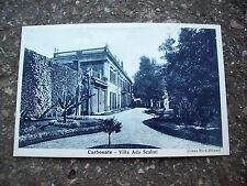 1950 CARTOLINA DI CARBONATE (COMASCO) 'VILLA ADA SCALINI' IN BLU. NON VIAGGIATA