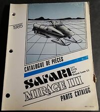 1985 SKI-DOO SAFARI & MIRAGE III  SNOWMOBILE PARTS MANUAL P/N 480 1196 00 (381)