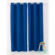 Kids Boys Block Out Eyelet Curtains 1 Pair Navy Blue 120cm(wide) x 213cm(drop)