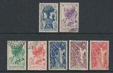 Guadeloupe - 1947, 3f - 20f stamps - G/U - SG 219/25
