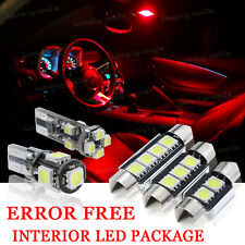 10x Bulbs For VW GOLF MK5 R32 GTI TDI INTERIOR PACKAGE XENON RED LED LIGHT KIT