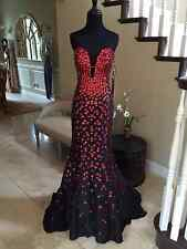 $640 NWT BLACK/RED JOVANI PROM/PAGEANT/FORMAL DRESS/GOWN #944A SIZE 4