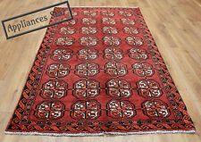 OLD WOOL HAND MADE PERSIAN ORIENTAL FLORAL RUNNER AREA RUG CARPET 190x110CM