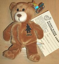 """7 1/2""""H PLANET PLUSH """"1999, THE NEW YEAR'S BEAR"""" #9942/36,000 CARLEY KNOBLOCH"""