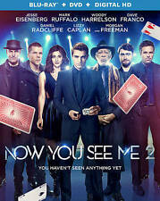 Now You See Me 2 [Blu-ray + DVD + Digital HD], New Disc, Sanaa Lathan, Jay Chou,