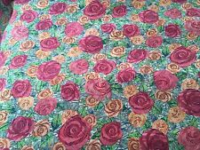 Liberty Silk Crepe 100%, 'Kilburn Rose' Orange (per metre) dress fabric, scarves