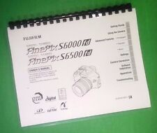 COLOR PRINTED Fujifilm FinePix S6000fd S6500fd Instruction Manual 196 Pages
