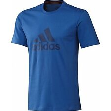 Adidas T-Shirt Performance Essentials Climalite Logo Cotton Top Size Medium NEW
