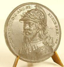 Médaille Edouard Edward III casque dragon Cadwallder Helmet s Jean Dassier medal