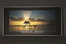 Wandbild Sonnenuntergang auf Mauritius - Alu Dibond mit Metallrahmen