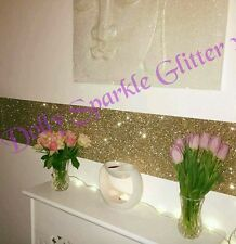 Grade 3 glitter wallpaper fabric border sold per metre champagne gold self stick
