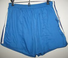 VINTAGE - BLUE WITH WHITE RUNNING SHORTS - Mens  X-LARGE - EXCELLENT CONDITION