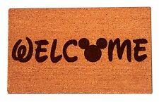 Disney Mickey Mouse Welcome Laser Engraved Door Mat, 100% Natural Coir Fiber