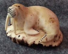 Eddy Syngoc Native American Eskimo Hand Carved Full Figure Walrus Museum Quality