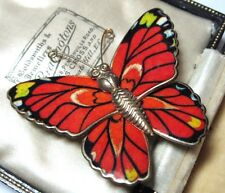 Pretty VINTAGE 1950's LARGE Enameled BUTTERFLY Costume Jewellery Pin BROOCH