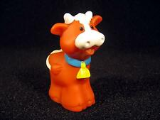 Fisher Price Little People BROWN FARM COW Extra Replacement Figure New