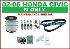 02-05 CIVIC 2.0L TUNE UP KITS: AIR, CABIN, OIL FILTER, SPARK PLUGS & SERP. BELT