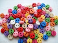 6mm Tiny Opaque Buttons  Assorted Mixed Colours Dolls Clothes Crafts Card Making