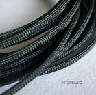 "6MM 1/4"" TIGHT Braided PET Expandable Sleeving Cable Wire Sheath 8M Black"