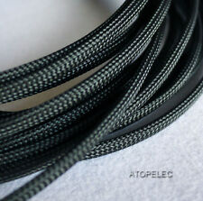 """6MM 1/4"""" TIGHT Braided PET Expandable Sleeving Cable Wire Sheath 8M Black"""