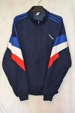 VINTAGE MENS NAVY ADIDAS 3 STRIPE LOGO ZIP UP TRACKSUIT JACKET UK LARGE 42/44