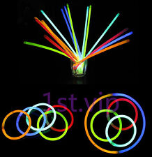 "PARTY DISCOTECA 100 X 8 ""BRACCIALI LUMINOSI collane Neon Colori UK STOCK"