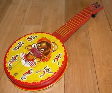 CHAD VALLEY TINPLATE BANJO / GUITAR RARE VINTAGE 1950's TOY SCARCE