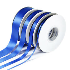 25m/50m Double Sided Faced SATIN Quality Tying Ribbon 3,10,15 & 25mm Widths