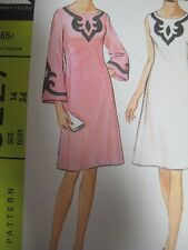 Vtg 60s McCalls 8227 BELL SHAPED SLEEVES FLARED DRESS Sewing Pattern Women Sz 14
