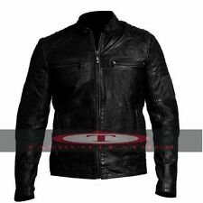 Mens Antique Party Cafe Racer Real Leather Motorcycle Vintage Black Biker Jacket