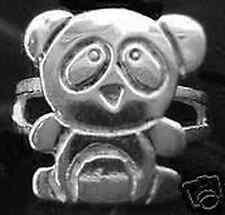 LOOK 1624 New Tare Panda Ring Sterling Silver Bear Jewelry