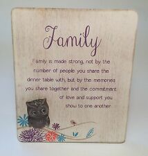 Life's A Hoot Family Plaque Gift Ideas for Her & Grandparents For Birthdays