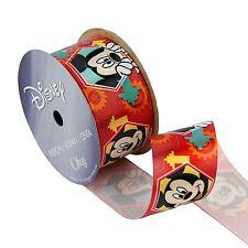 """1-1/2"""" Disney Ribbon - Mickey Mouse Satin Ribbon  -Red , 3 yards"""