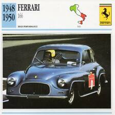 1948-1950 FERRARI 166 Classic Car Photo/Info Maxi Card