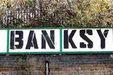 Banksy Tag Stensil A4 Sign Aluminium Metal