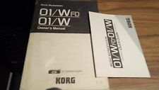Korg O1/W Music Workstation Manual