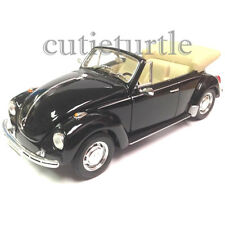 Welly 1967 VW Volkswagen Beetle Convertible 1:24 Diecast Model Car 22091 Black